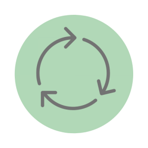 Illustration of a recycling symbol.