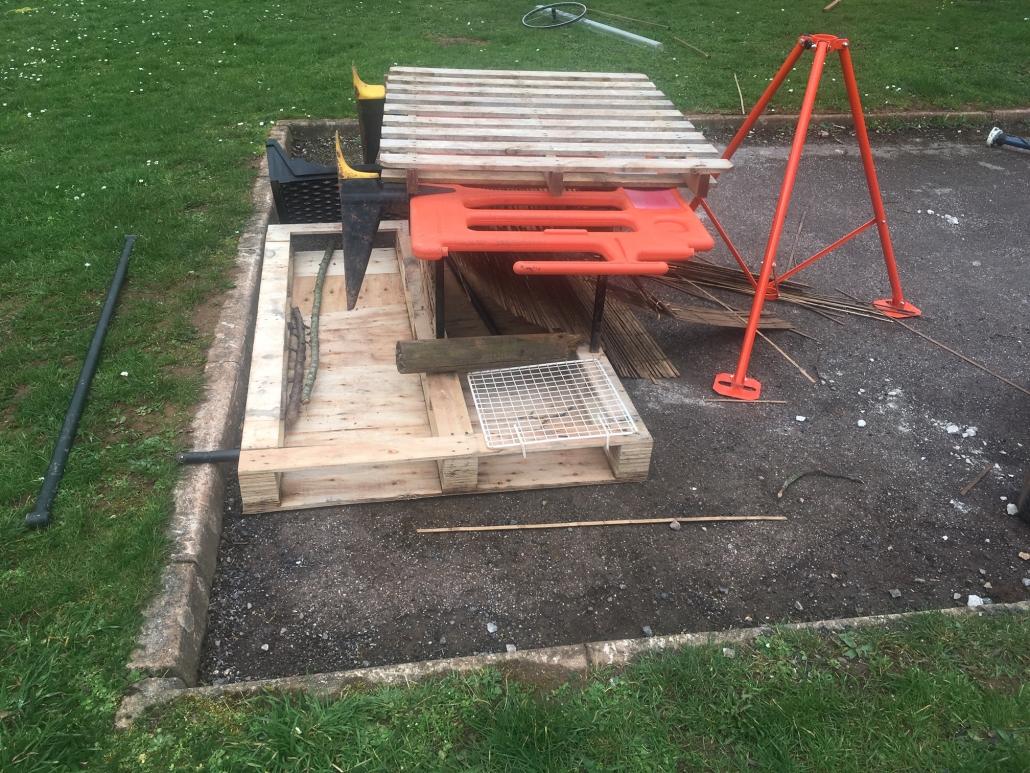 Loose parts play equipment at Whipton Barton Junior school