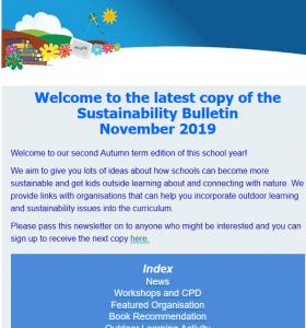 Screenshot of latest edition of Sustainability Bulletin