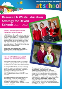 Screenshot of Summary of 2017-2022 Resource and Waste Education Strategy