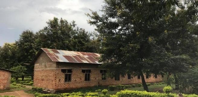 A school building in rural Tanzania