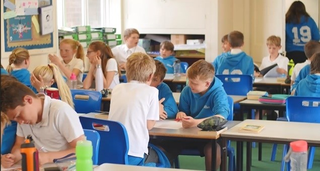 Year 6 pupils at St Peters Primary in Budleigh Salterton working hard on their eco day